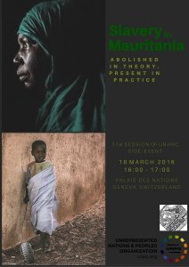 UNPO Announces UNHRC Side-Event - Slavery in Mauritania: Abolished in Theory, Present in Practice