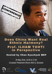 UNPO Announces European Parliament Conference: Does China Want Real Ethnic Harmony? Professor Ilham Tohti in Perspective