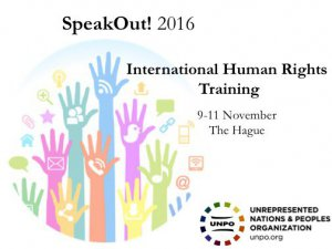 SpeakOut! 2016 – International Human Rights Training